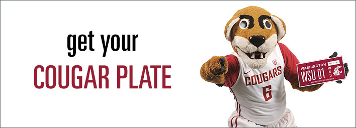 Get Your WSU Cougar License Plate